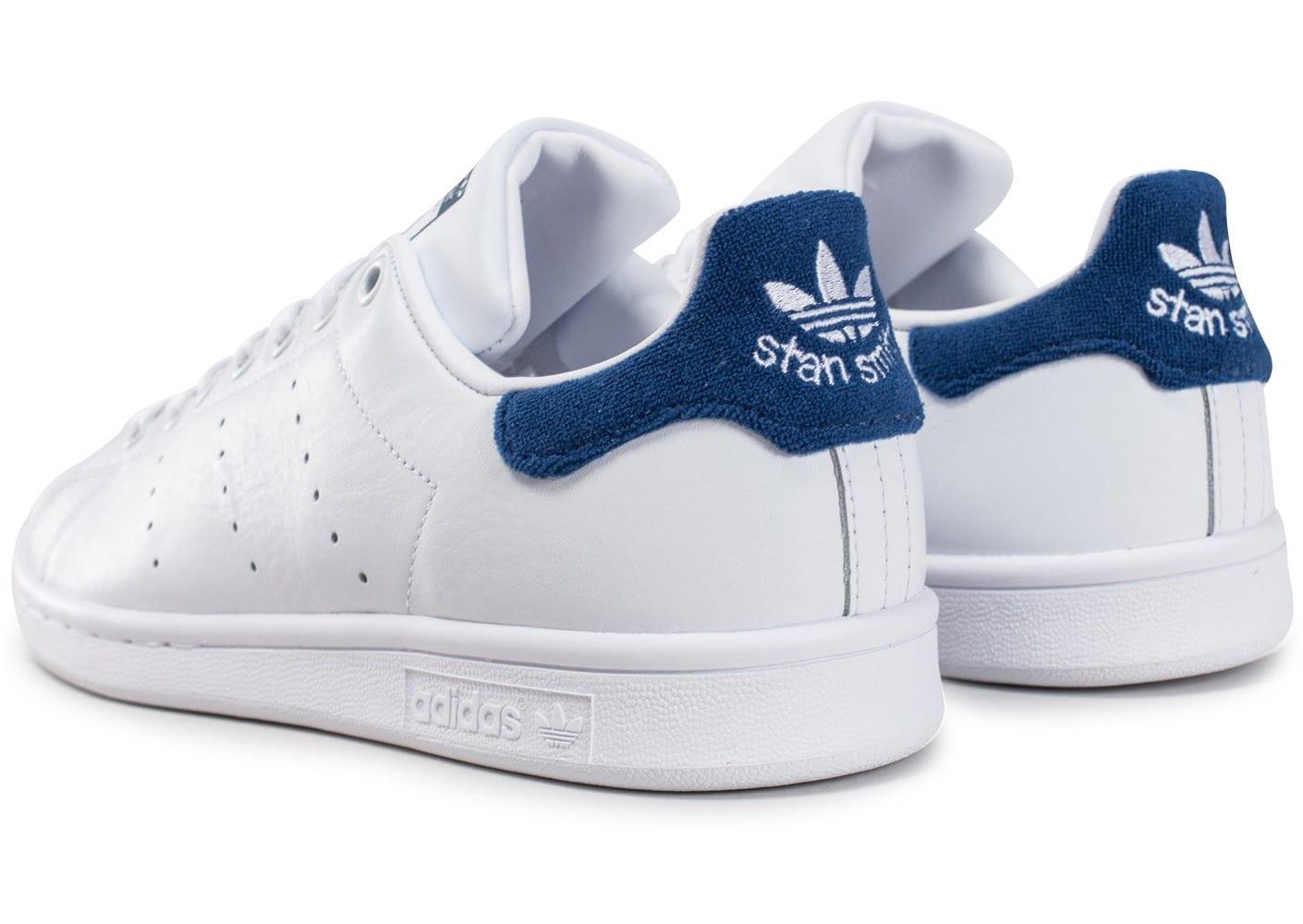 plus de photos 2c591 f7bb8 Achetez élégant adidas stan smith blanc bleu marine pas cher ...