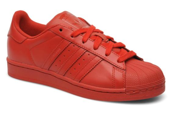 baskets adidas superstar rouge