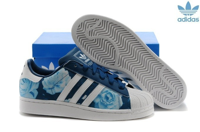 adidas superstar bleu femme